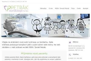 Webové stránky zubní ordinace ve Vamberku